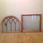 Gothic arched mullion wood custom histrical window sashes