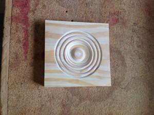 Custom wood rosette corner block