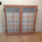 Custom wood double casement window unit