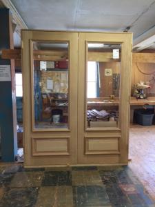 Custom wood entry door unit