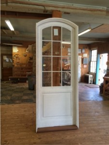 Arched top custom wood enty door unit