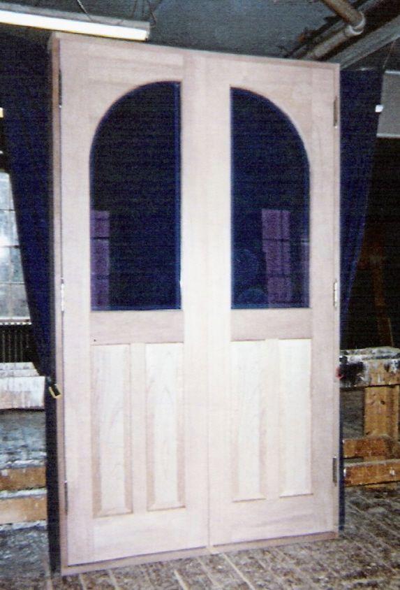 Wood custom entryway doors jim illingworth millwork llc - Arched interior doors with glass ...
