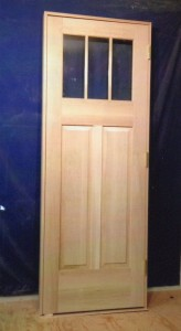Custom wood exterio door unit