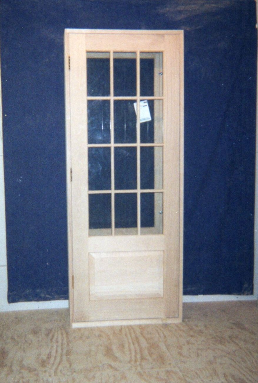 Wood custom exterior doors jim illingworth millwork llc for Exterior door with window