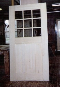 Wood custom exterior historical door