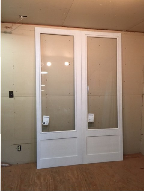 Wood custom storm and screen doors jim illingworth for Storm doors for double entry doors