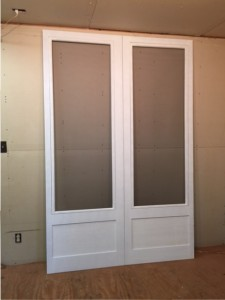 Custom wood screen doors