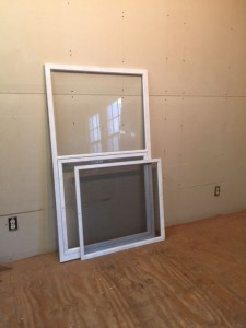 Storm screen combination custom wood window sash