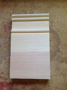 Custom wood plinth block molding