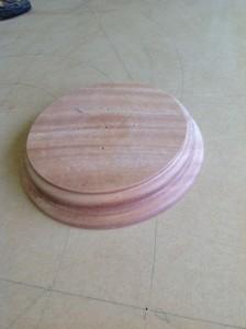 Wood custom column base.