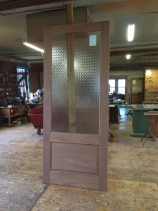 Interior custom wood door