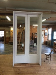 Entry door unit, custom wood.