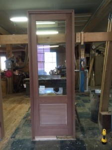 Wood custom entry door unit