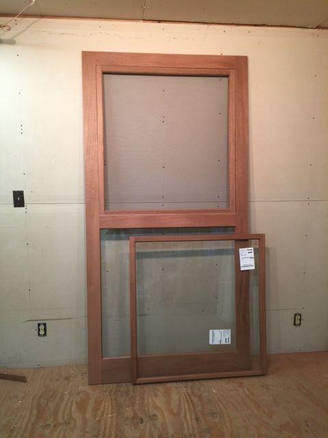 Mahogany Wood Custom Storm Screen Door