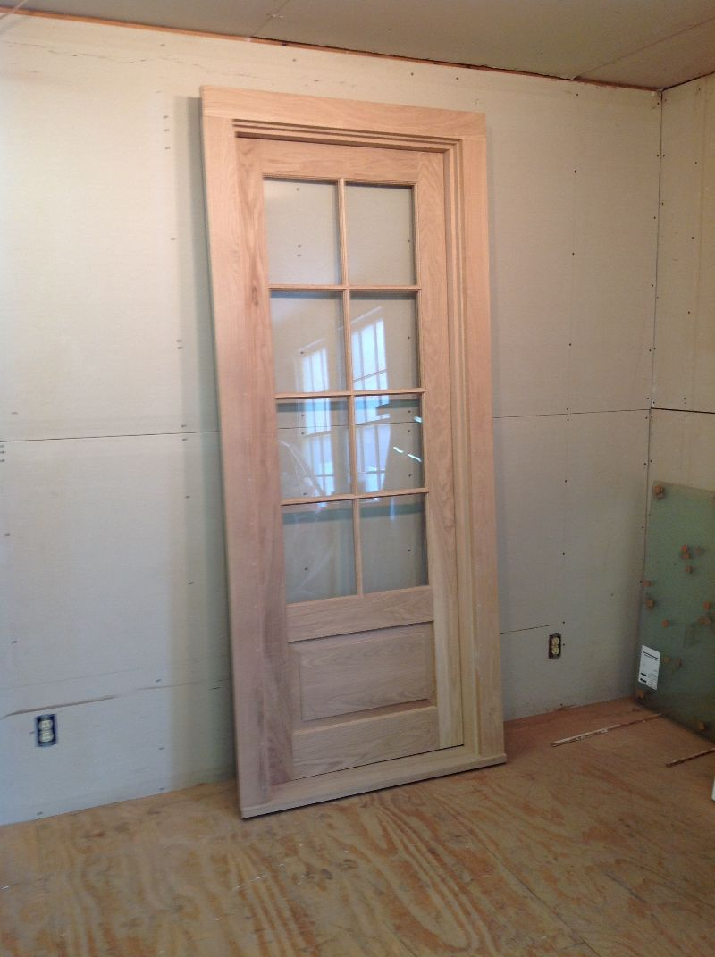 Wood Custom Exterior White Oak Door Unit