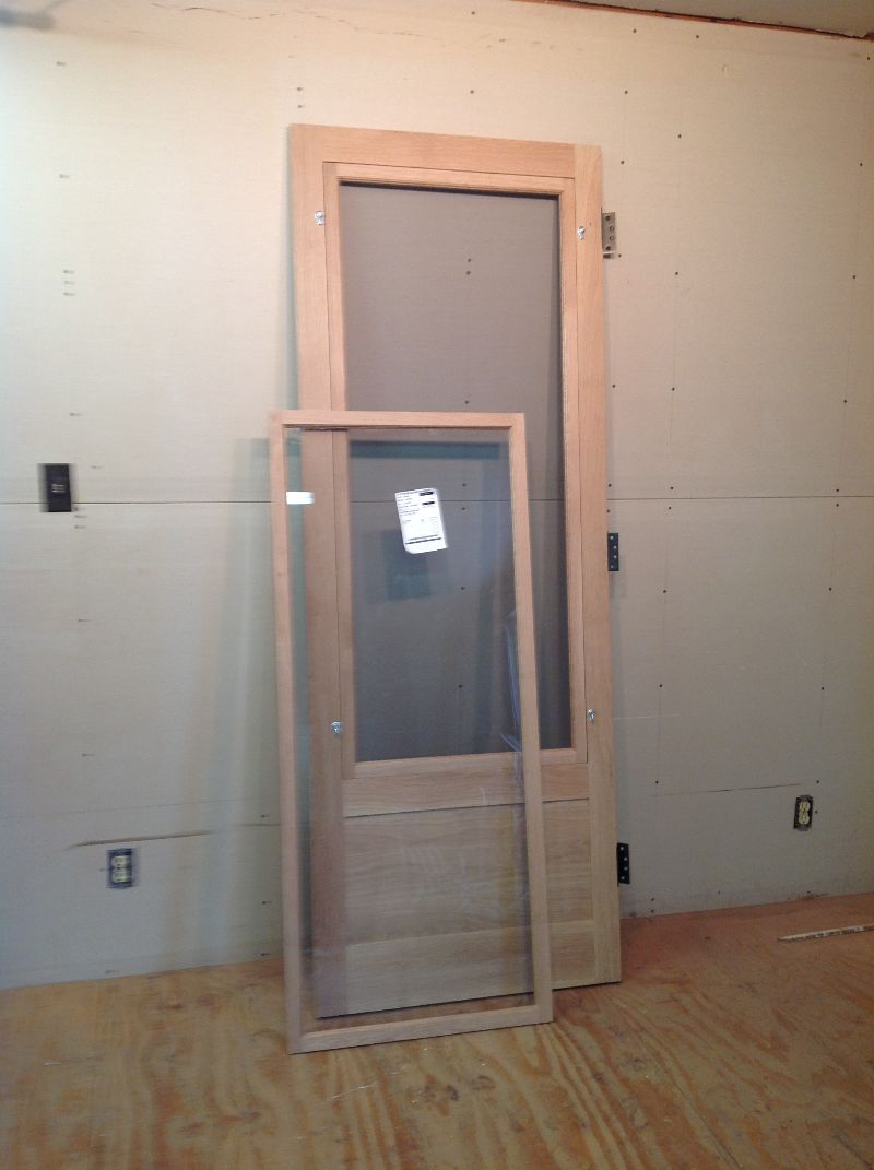 Custom Wood Storm Screen Combination Insert Door