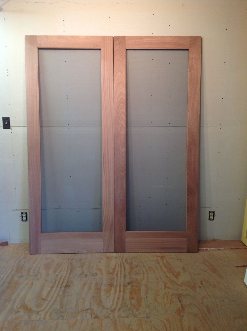 Wood custom storm and screen doors jim illingworth for Double door screen door