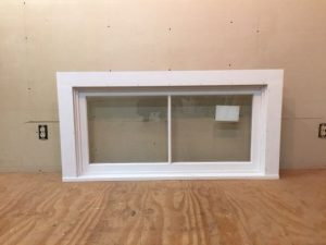 Custom wood transom window