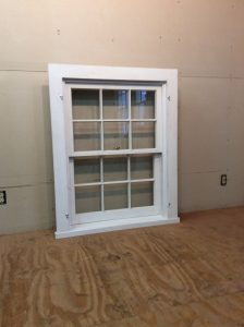 Custom wood double hung window