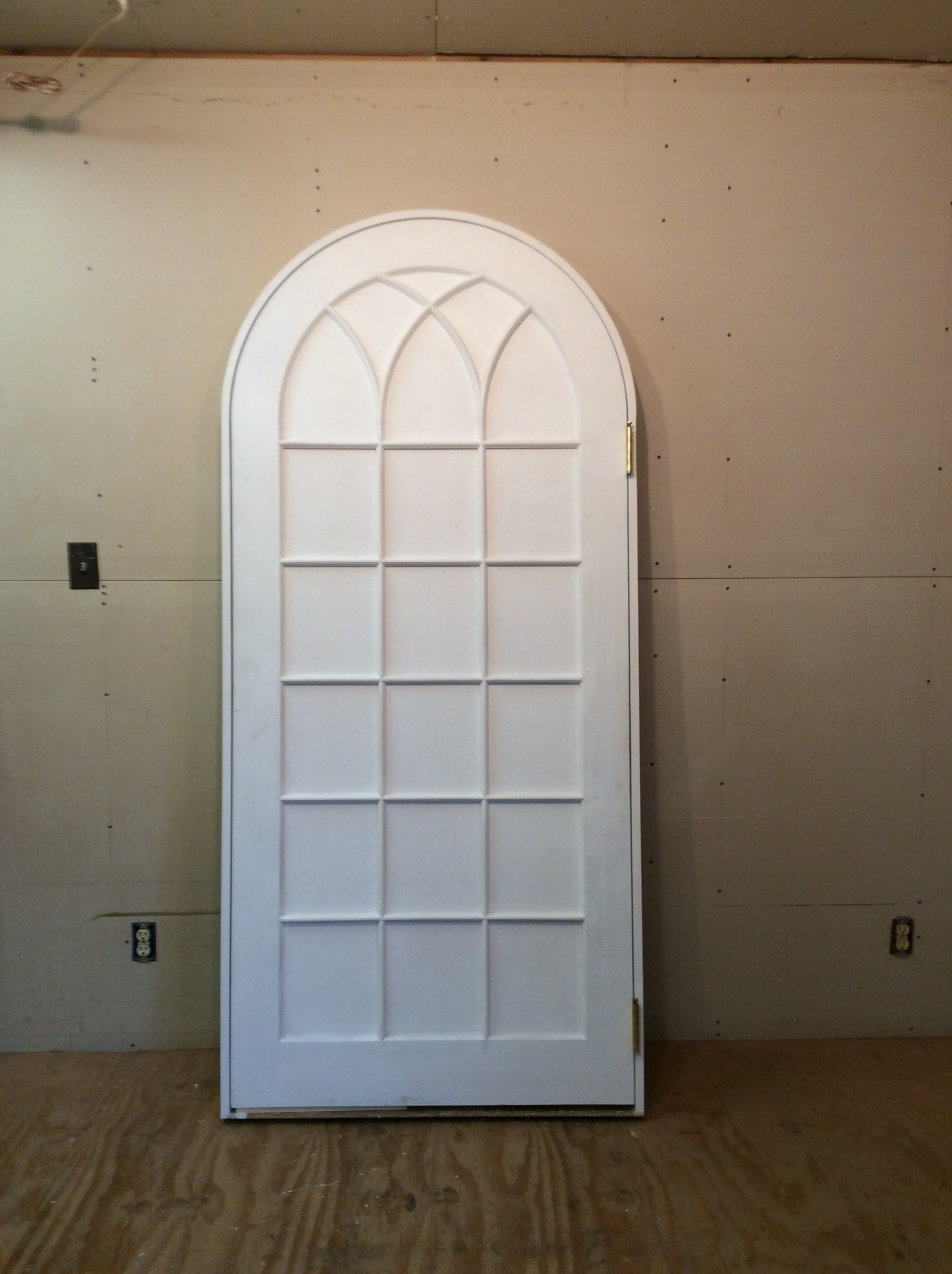 2591 #443724 Wood Custom Interior Arched Top With Gothic Arched Mullions Door Unit  picture/photo Arch Top Doors 43391936