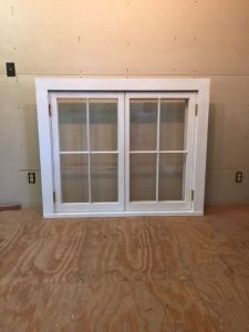 Custom wood casment window