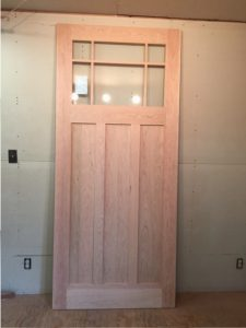 Custom wood exterior door