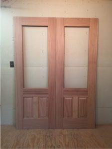 Custom wood exterior doors
