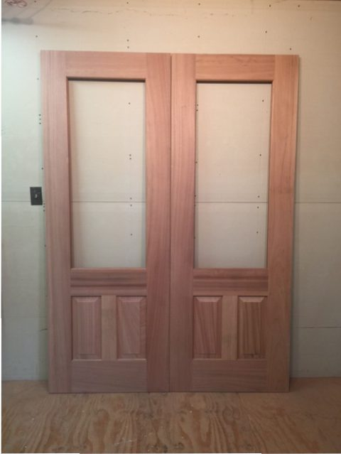 wood custom exterior doors double raised wood panels project in nj