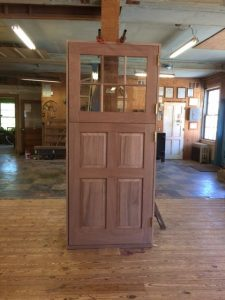 Custom wood Dutch door unit