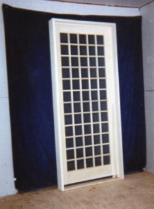 Custom wood interior french door unit