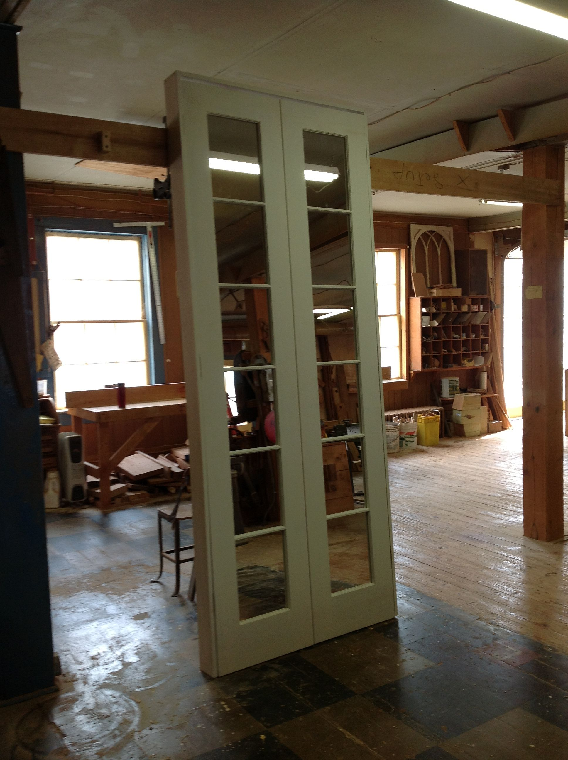 Custom Wood French Door Unit Interior ...
