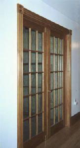 Custom wood interior french door