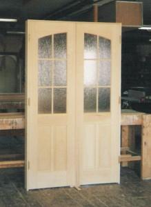 Custom wood interior double door unit