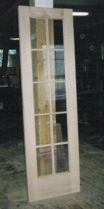 Custom wood interior single french door