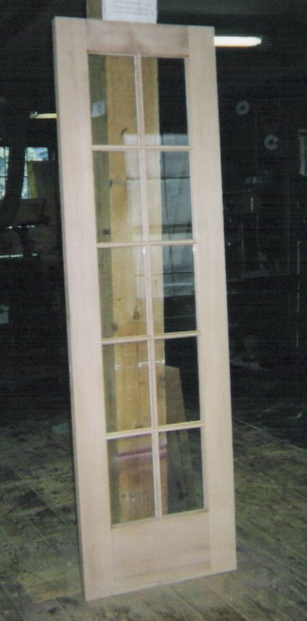Wood custom interior doors jim illingworth millwork llc for Single door french doors