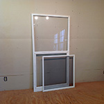Wood custom storm screen combination insert sash