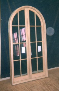 Custom wood arch top casement window
