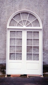 Custom wood double french doors