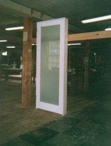 Custom wood entry door unit