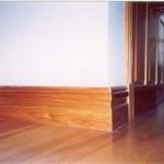 Custom wood baseboard molding
