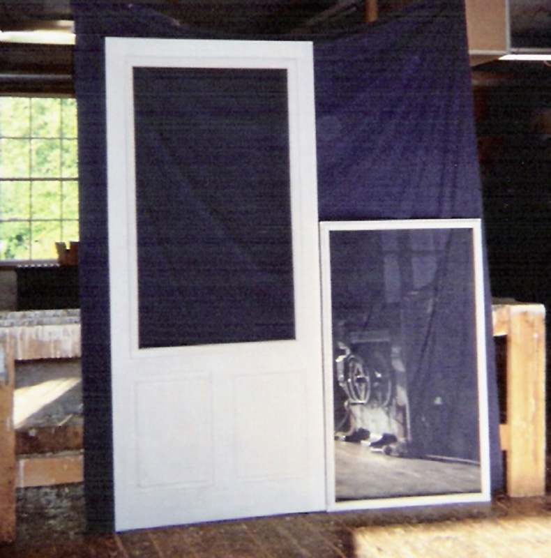 Wood custom storm and screen doors jim illingworth for Door and screen door combo