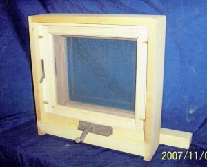 Custom wood awning window unit