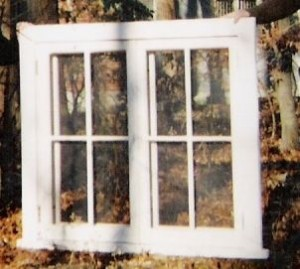Traditional custom wood double casement window