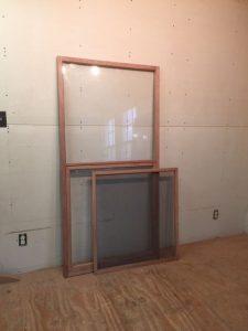 Custom wood storm screen sash