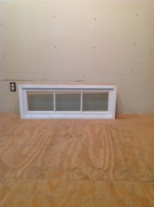 Custom wood fixed transom window unit
