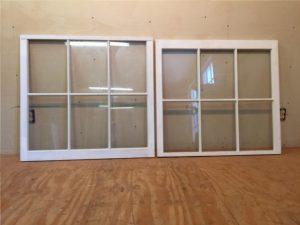 Custom wood double hung window sashes