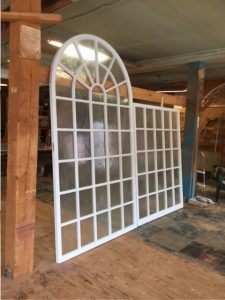 Custom wood arched top window