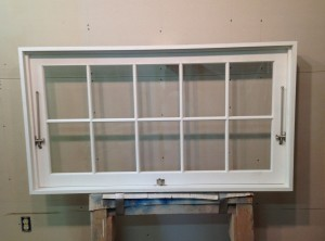 Custom wood interior awning window unit