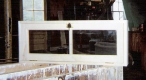 Custom wood transom window unit