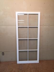 Custom wood casement window sash.
